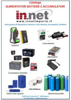 Catalogo Alimentatori batterie e accumulatori